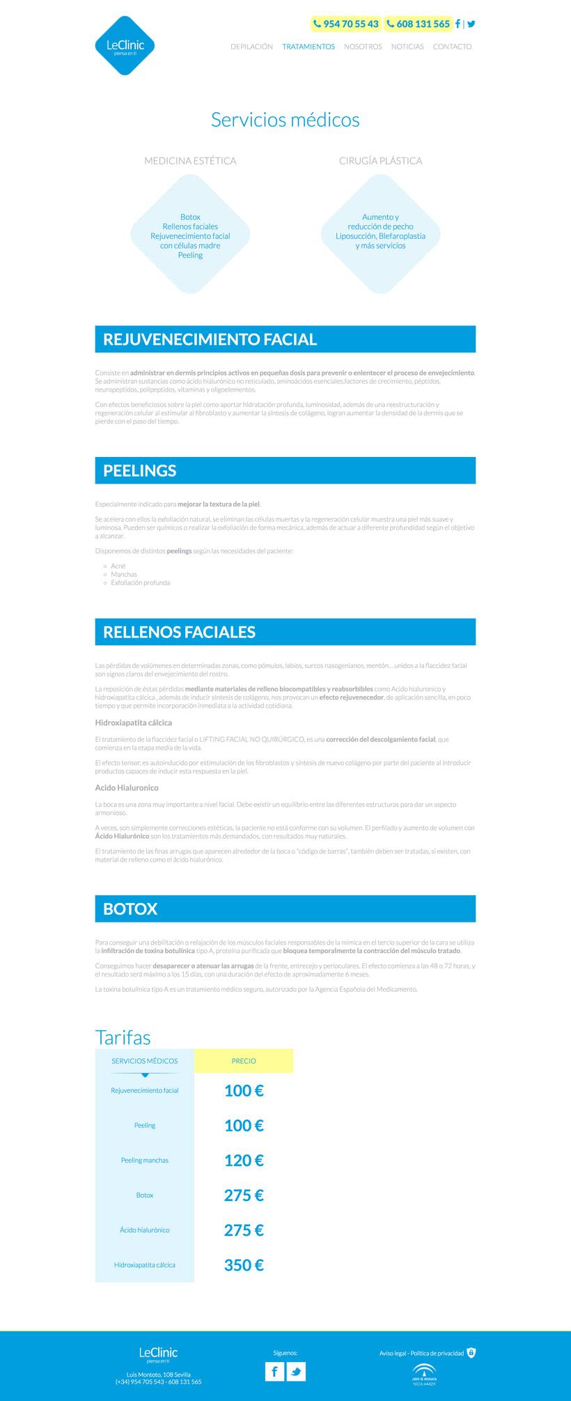 Diseño/Desarrollo Web/UI/UX: LeClinic 5