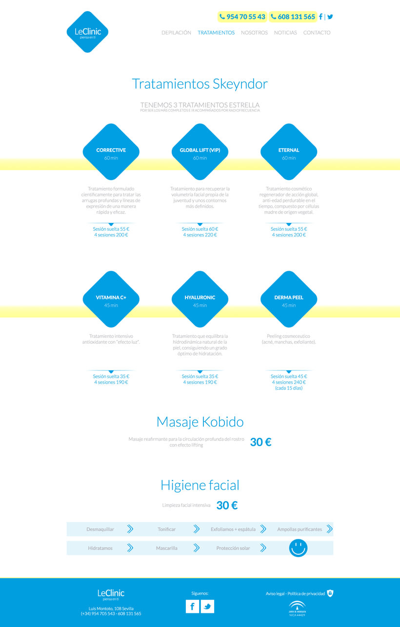 Diseño/Desarrollo Web/UI/UX: LeClinic 6