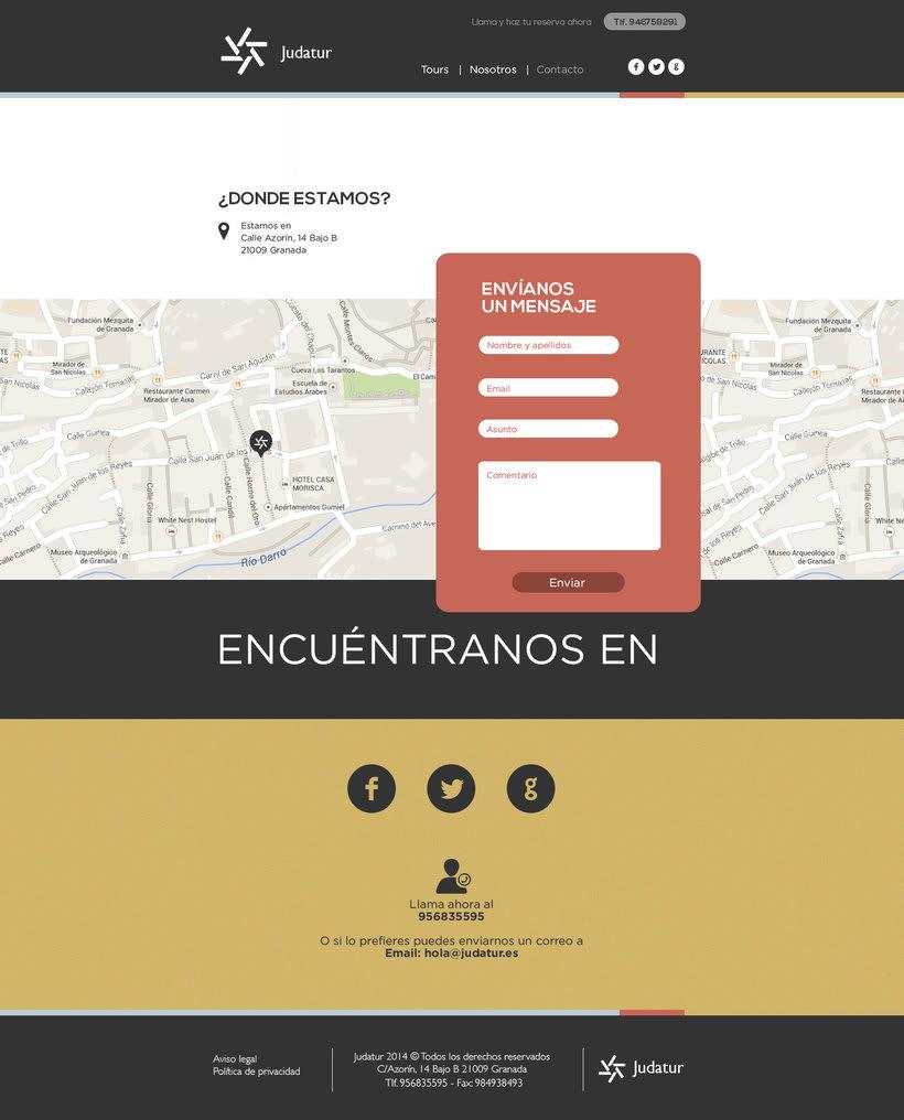 Diseño Web/UI/UX: Judatur 4