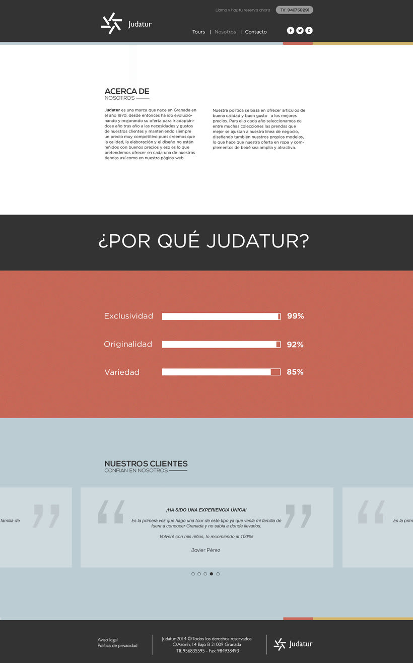 Diseño Web/UI/UX: Judatur 2