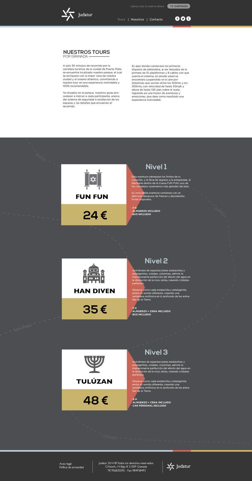 Diseño Web/UI/UX: Judatur 1