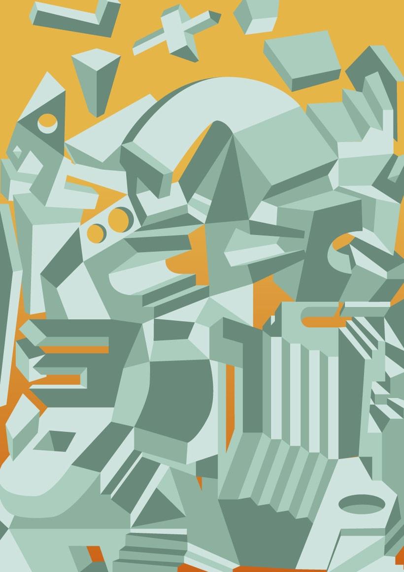 GEOMETRIX - Ilustraciones vectoriales por amor al arte. Perspectivas inventadas. 0