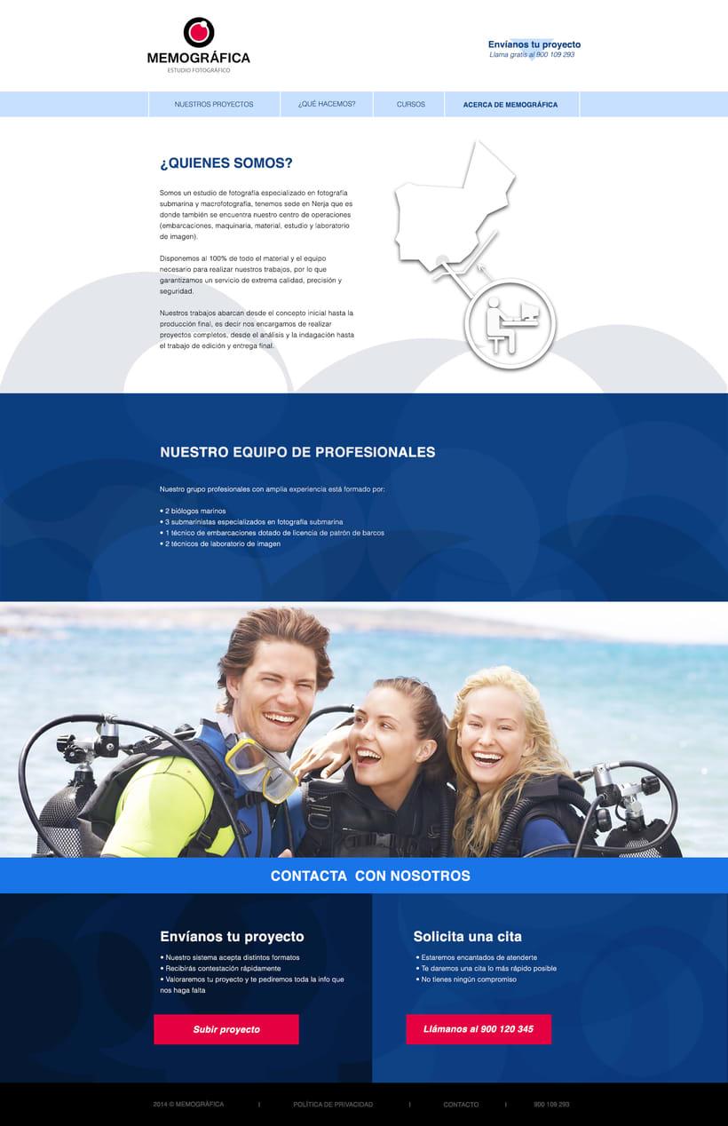 Diseño Web: Memográfica Estudio de fotografía submarina 6