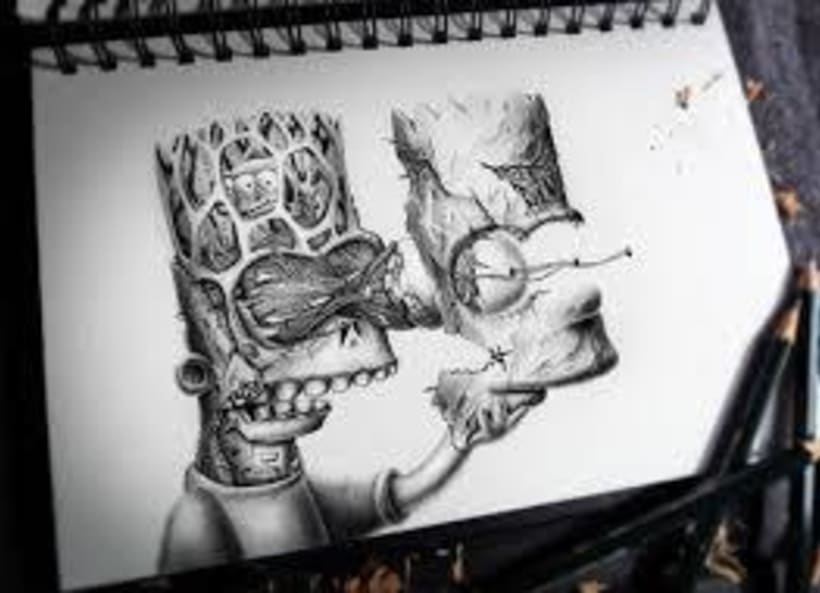 dibujo bart -1