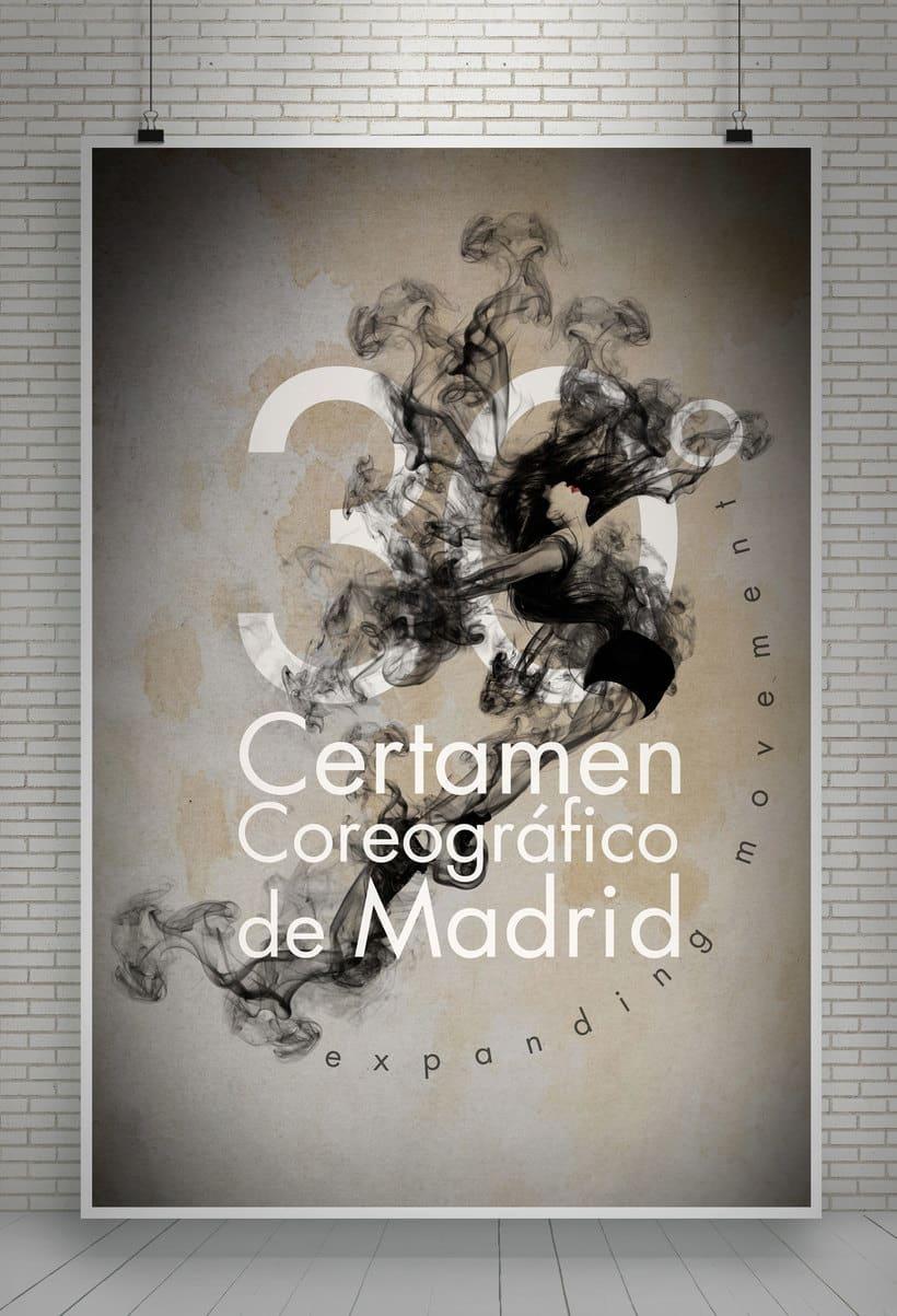 """30º Certamen Coreográfico de Madrid """"Expanding movement"""" (concurso para creación de imagen) 2"""