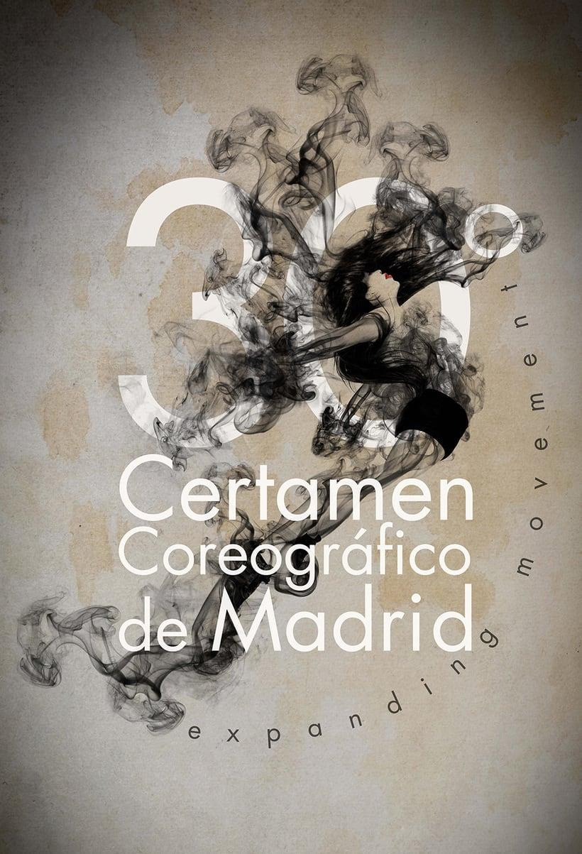 """30º Certamen Coreográfico de Madrid """"Expanding movement"""" (concurso para creación de imagen) 1"""
