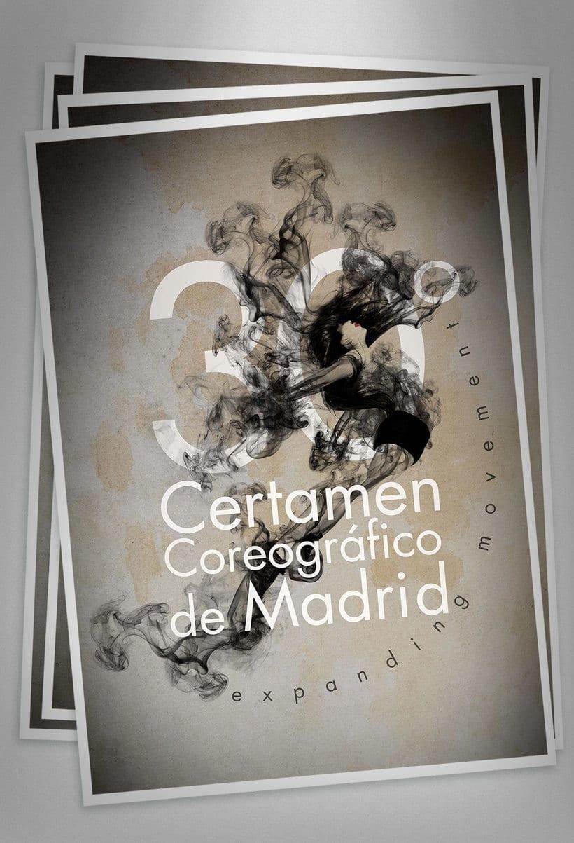 """30º Certamen Coreográfico de Madrid """"Expanding movement"""" (concurso para creación de imagen) 3"""