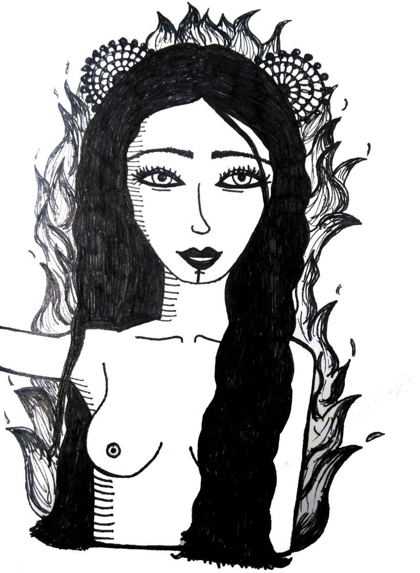 Aquarela i tinta negre 3