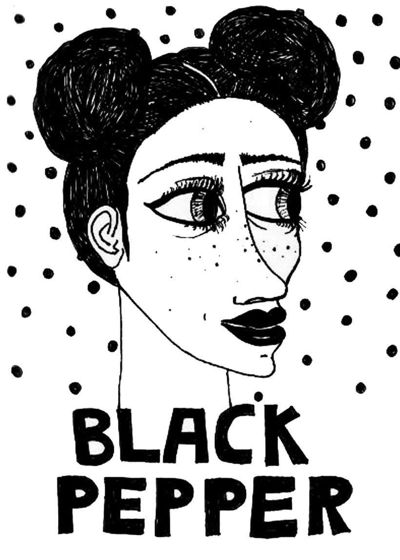 Aquarela i tinta negre 22