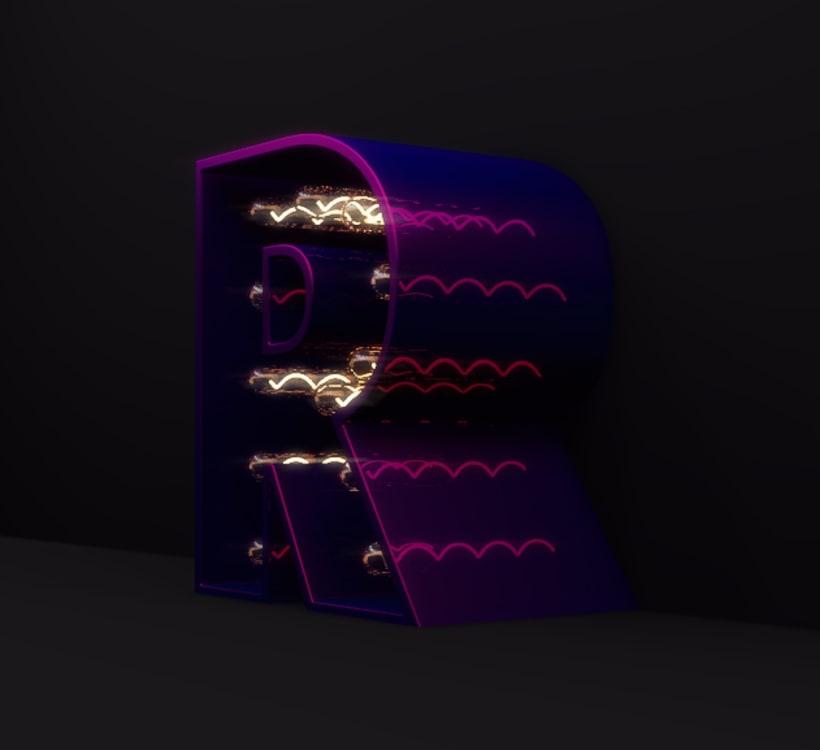 Renders curso Lettering 3D: modelado y texturizado con Cinema 4D 9