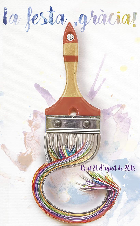2ª Premio cartel Festes de Gràcia 2016. Barcelona 0