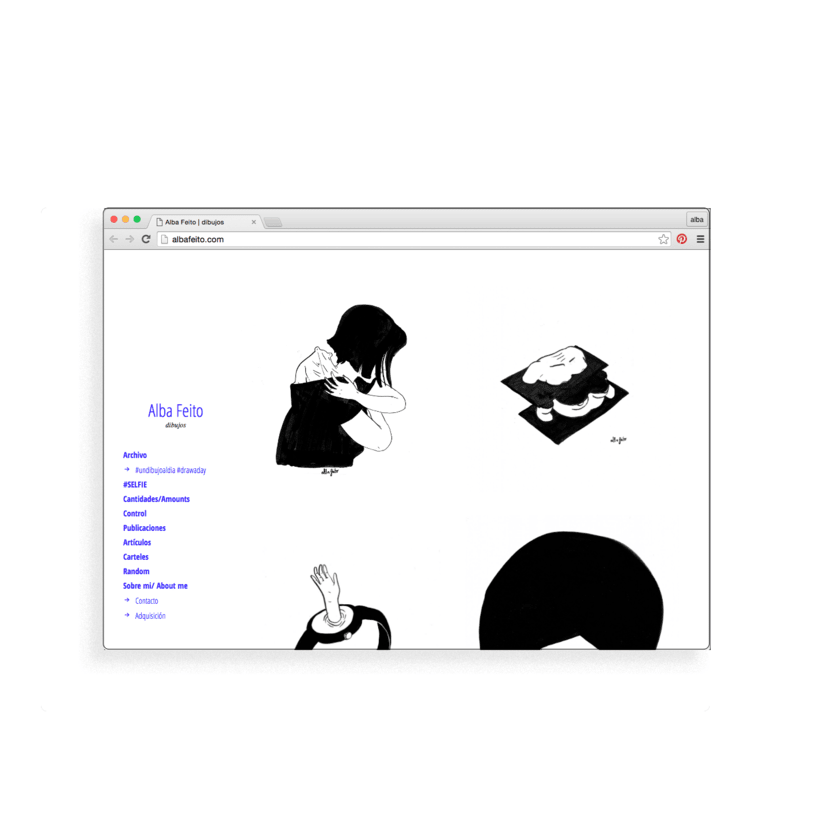 Diseño web albafeito.com -1
