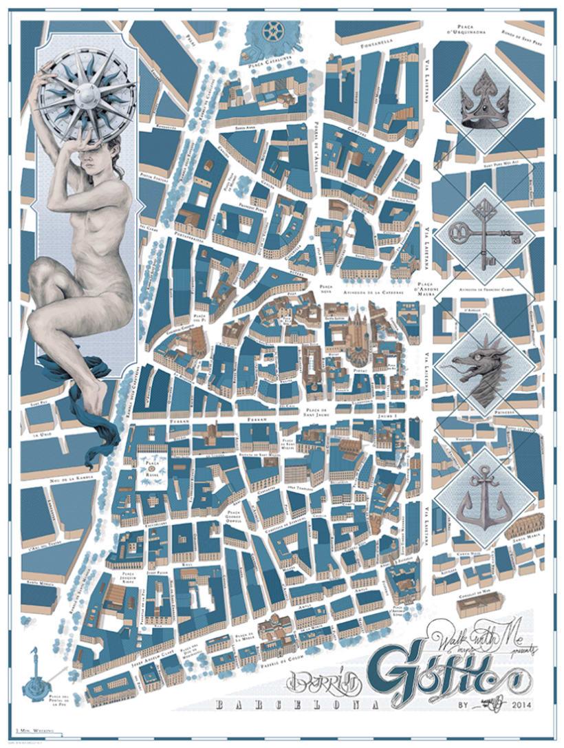 Los mapas ilustrados de Walk With Me 9