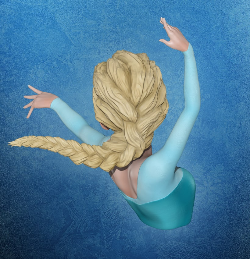 Elsa Frozen Zbrush 1
