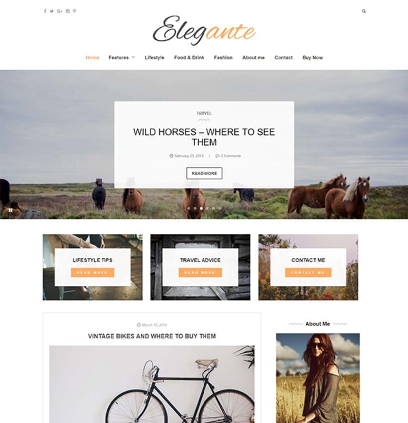 Elegante - Clean & Elegant Blog Theme 0