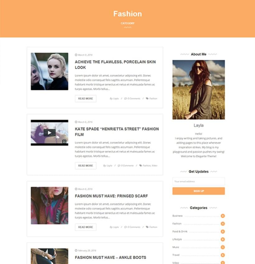 Elegante - Clean & Elegant Blog Theme 1