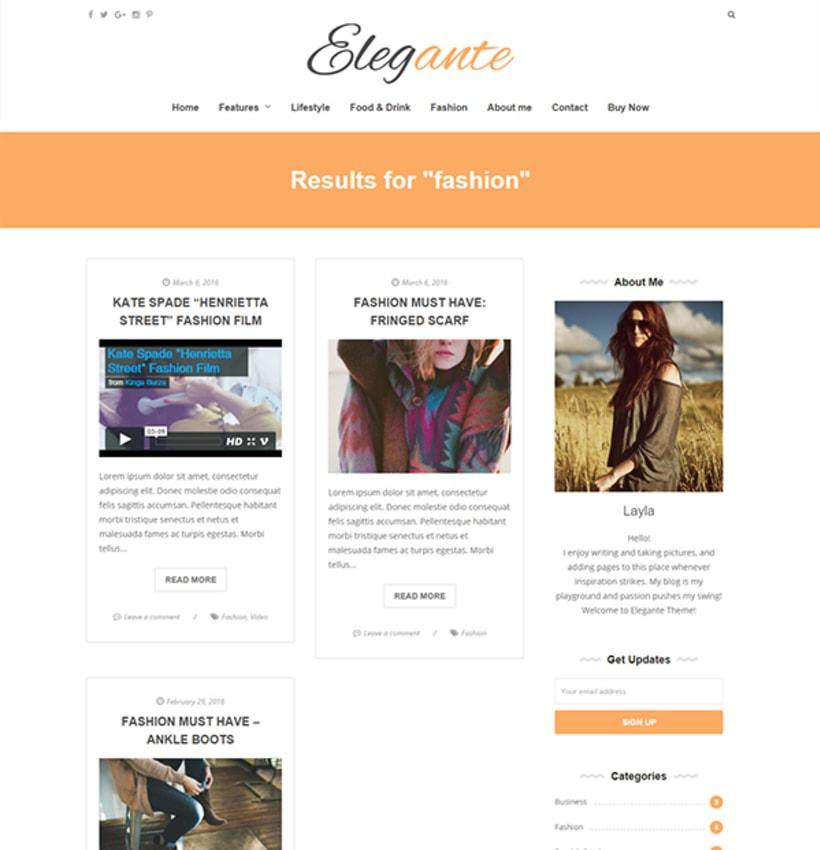 Elegante - Clean & Elegant Blog Theme 2