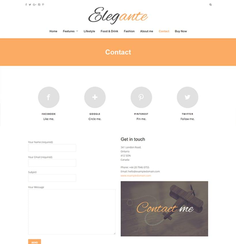 Elegante - Clean & Elegant Blog Theme 3