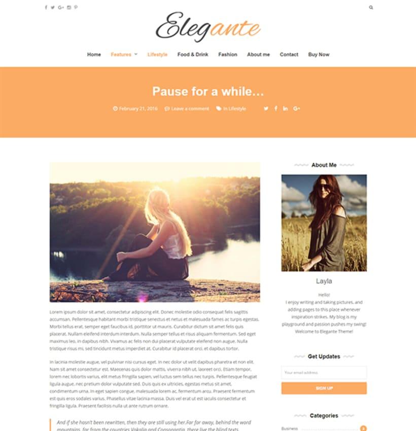 Elegante - Clean & Elegant Blog Theme 4