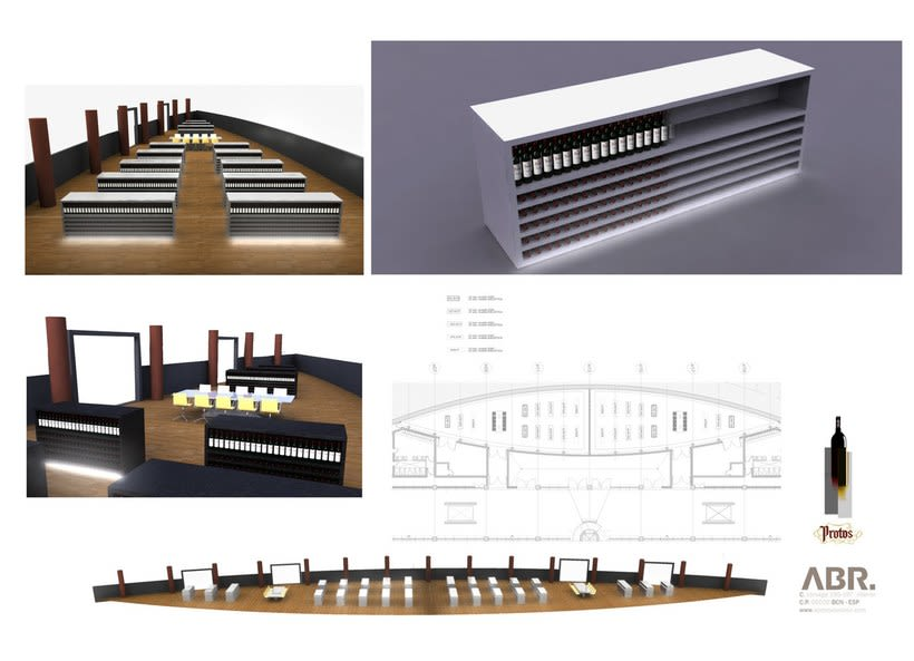 Render interior para proyecto Bodega Protos 0