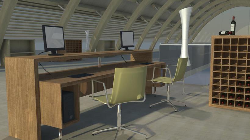 Render interior para proyecto Bodega Protos 2
