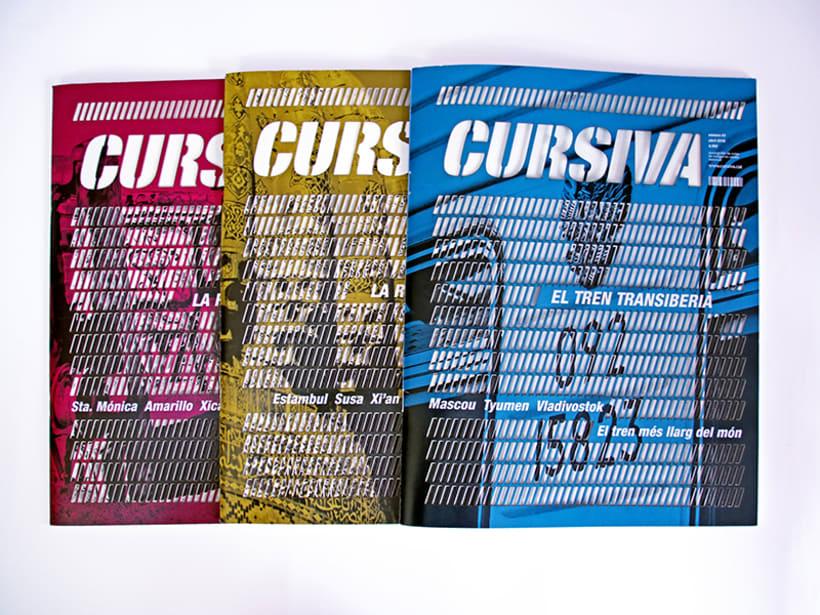 Cursiva - revista viatges pel món - cada revista té com a eix una ruta 0