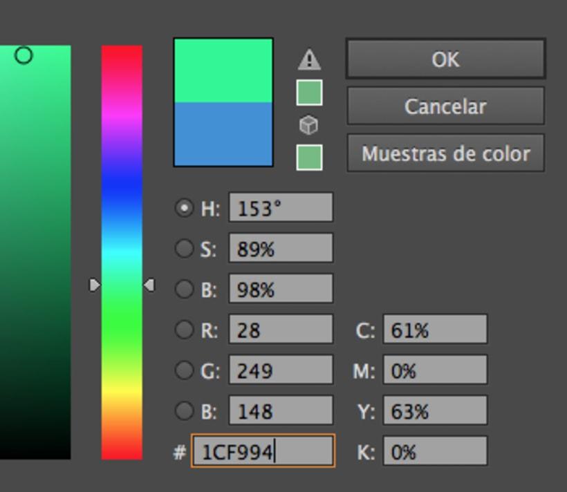Porque al poner un color fuerte en un objeto en illustrator no puedo? 1