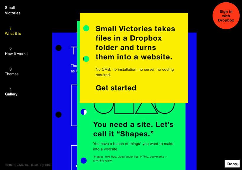 Crea un sitio web a partir de una carpeta de Dropbox 2