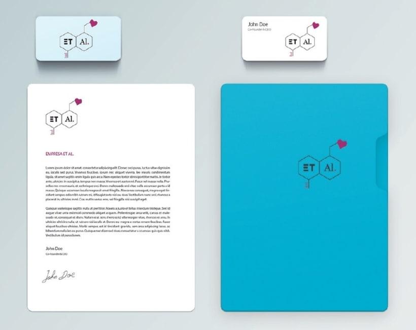 """Identidad Gráfica (fictícia) para Empresa Laboratorios farmaceuticos """"ET AL.""""  2"""