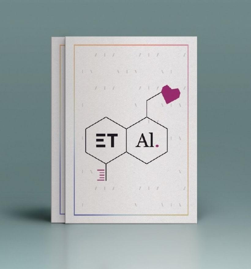 """Identidad Gráfica (fictícia) para Empresa Laboratorios farmaceuticos """"ET AL.""""  1"""