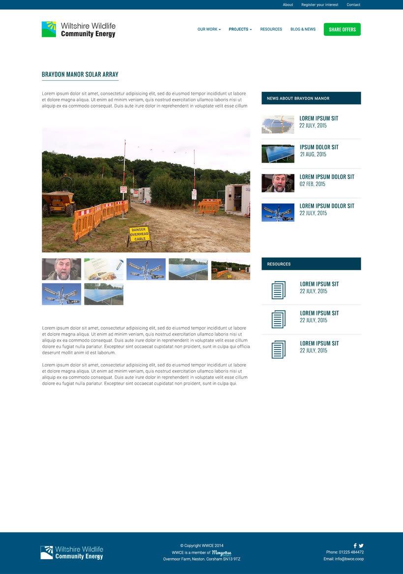 Diseño Web/UI/UX: Wiltshire Wildlife Community Energy (WWCE) 0