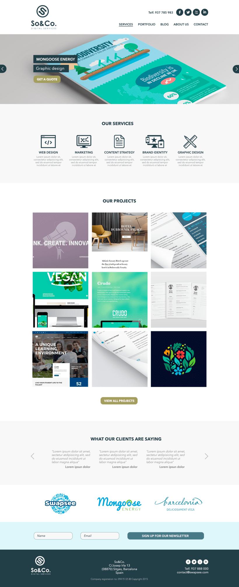 Diseño Web/UI/UX: So&Co Digital Services 1