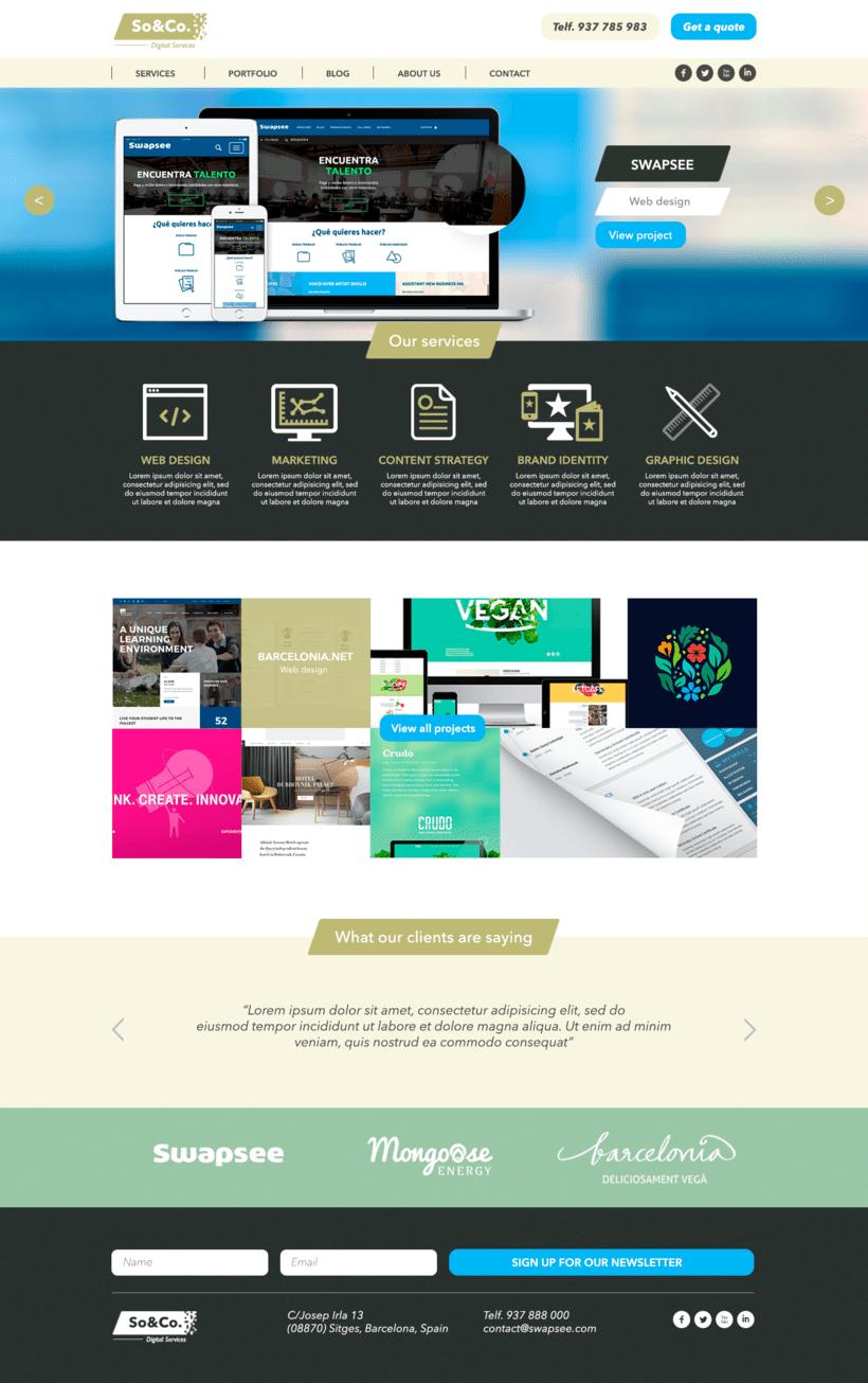 Diseño Web/UI/UX: So&Co Digital Services 2