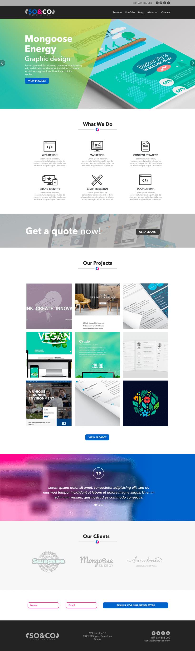 Diseño Web/UI/UX: So&Co Digital Services 0