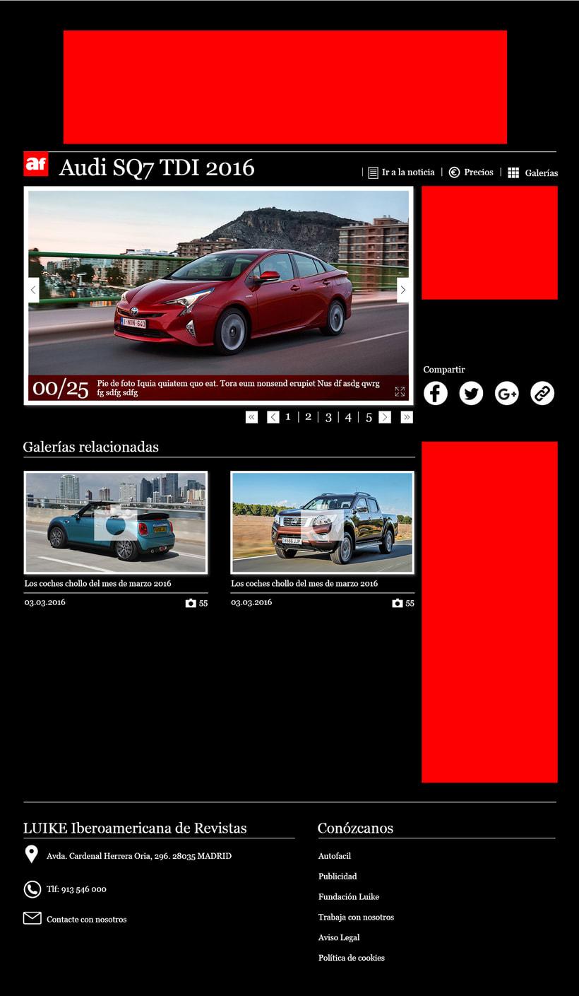 Diseño web. Galerías de fotos autofácil 2