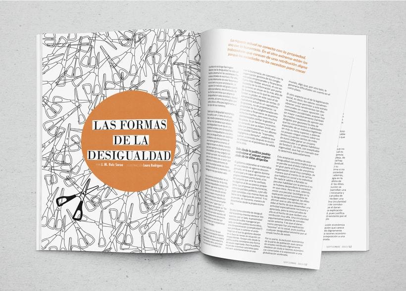 Maquetación e ilustración, las formas de la desigualdad -1