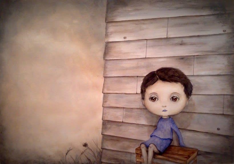 la niña triste 5
