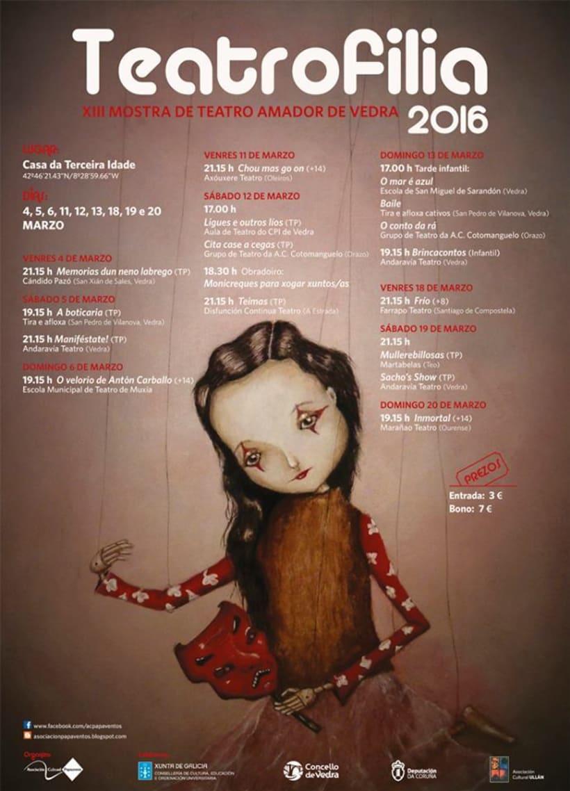 """Cartel """"Teatrofilia 2016"""" -1"""