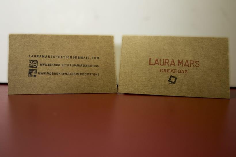 Laura Mars Creations. Identidad visual handmade 2