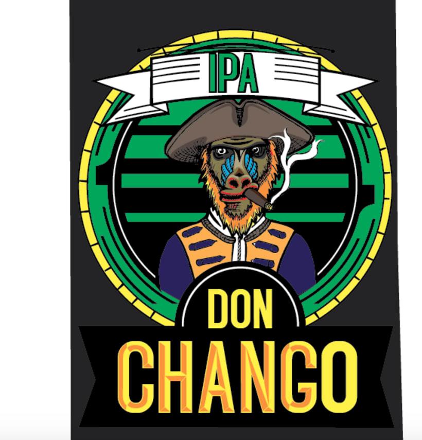 """Rediseño de Etiqueta Cerveza Artesanal """"Don Chango"""" 1"""