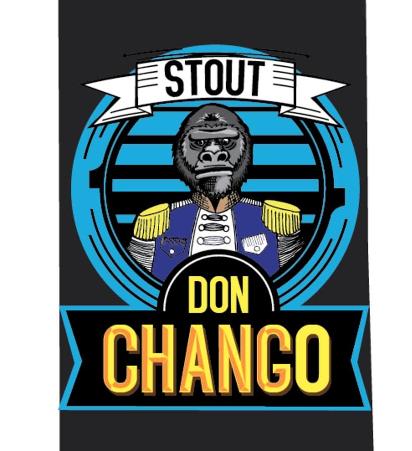 """Rediseño de Etiqueta Cerveza Artesanal """"Don Chango"""" 2"""
