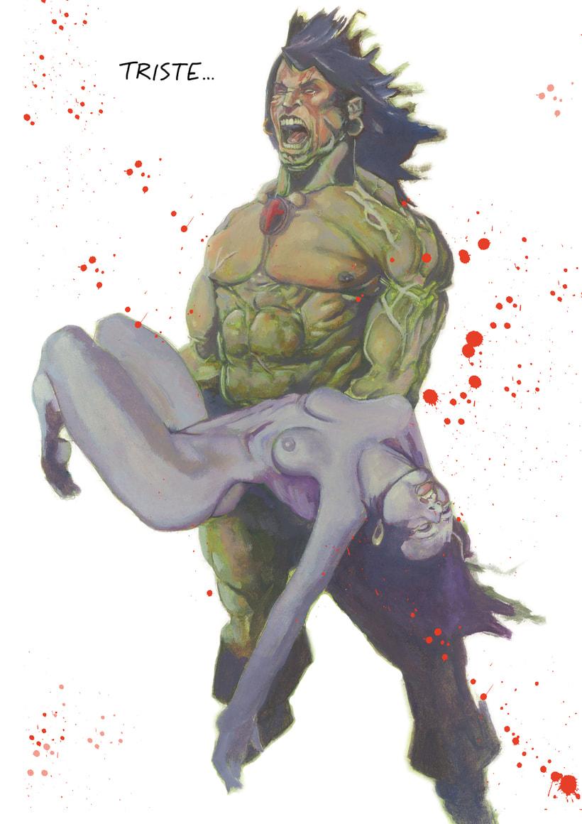 Conan y Belit. Oleo sobre lienzo -1