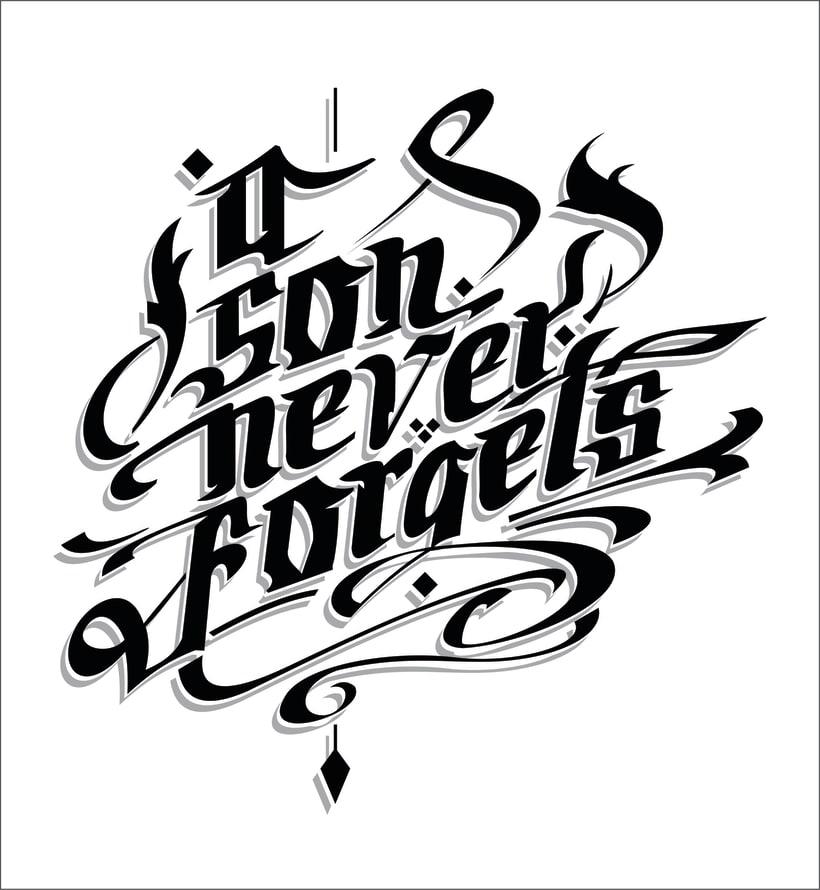 A Son Never Forgets  - Mi Proyecto del curso: Caligrafía y lettering para manos inquietas -1