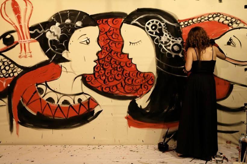 Live-painting Cabaret Rotante 2014_ Matadero Madrid 1