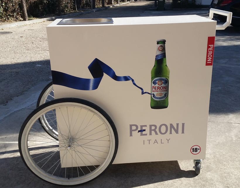 Carrito bebidas Peroni 6