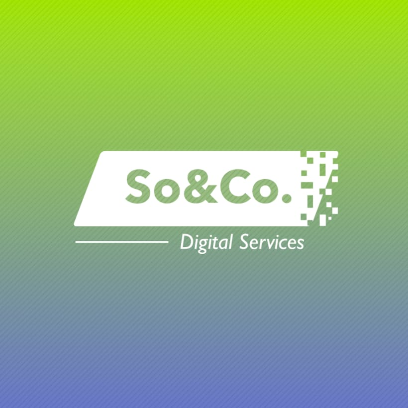Diseño de logotipo: SO&CO Digital Services 6