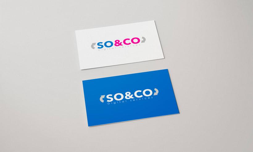 Diseño de logotipo: SO&CO Digital Services 2