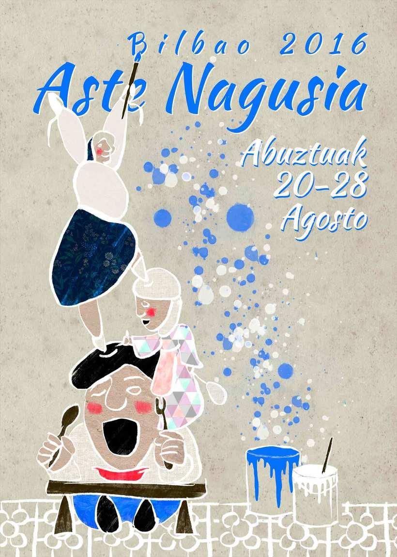 Propuesta de cartel para fiestas de Bilbao -1