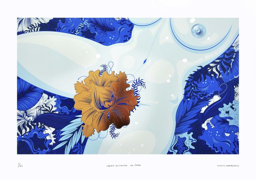 Jardín Suculento Ed. Índigo (7 Tintas + Foil Dorado). 0
