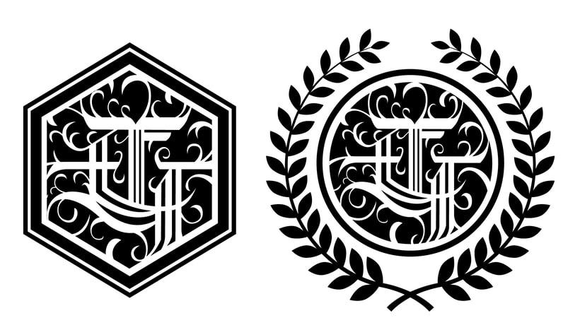 Monograma con estilo gótico: Eduardo García -1